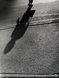 shadows, woman with handbag by lisette model