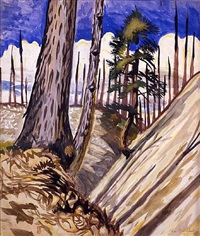 ravine in spring by charles ephraim burchfield