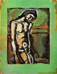 christ flagelle by georges rouault