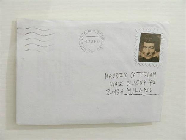 envelope by maurizio cattelan