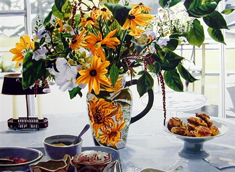 august breakfast, maine by carolyn brady