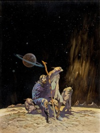 tomorrow midnight, paperback cover by frank frazetta
