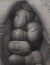self portrait, interlocking fingers no. 19 by john coplans