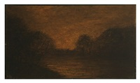 pond in moonlight by albert pinkham ryder