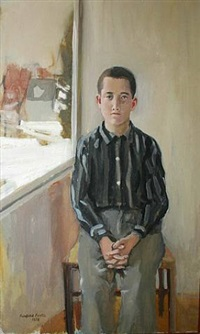 henry sitting in chair by fairfield porter