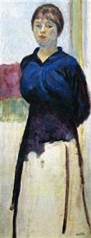 femme en bleu by pierre bonnard