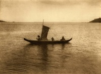 a kwakiutl canoe by edward sheriff curtis