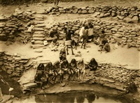flute dancers at tureva spring by edward sheriff curtis
