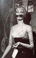 mannequin designed by joan miro (for the 1938 surrealist exhibition in paris) by man ray