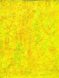 yellow abstraction by beauford delaney