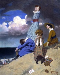 till the boys come home by norman rockwell
