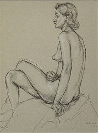 female nude b11 by paul cadmus