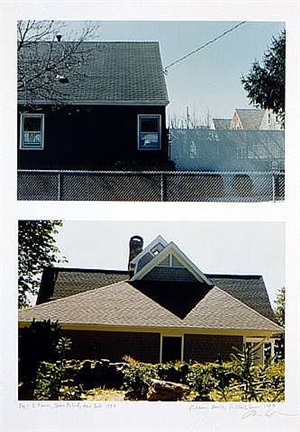 two fences, staten island, new york 1997 house, guilford, conn. by dan graham