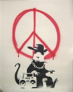 gangsta rat/ morons verso by banksy