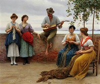 the serenade by eugen von blaas