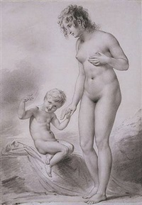 galatea and cupid, 1813 by anne-louis girodet de roucy-trioson