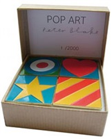4 badges by peter blake