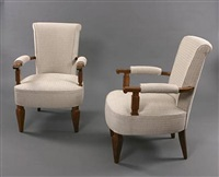 pair of armchairs by jules leleu