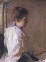 young girl in profile by frank weston benson