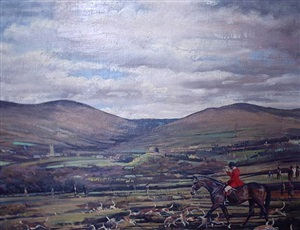 the south devon fox hounds on dartmoor by richard john munro dupont