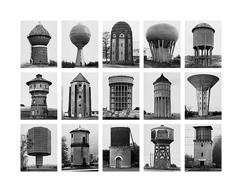 from the series typologies image iv: water towers by bernd and hilla becher