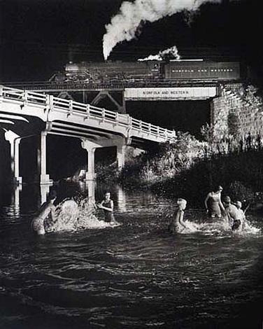 hawksbill creek, luray, va by o. winston link