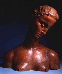female bust by wilhelm lehmbruck