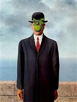 le fils de l'homme (son of man) by rené magritte