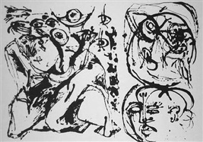 untitled (after cr#328) by jackson pollock