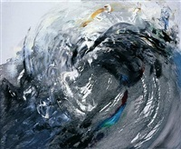 wave breaking, morning by maggi hambling