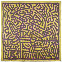 untitled by la ii (angel ortiz) and keith haring