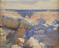the balanced rock - grand canyon by josé arpa perea