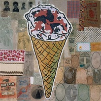 hundred pound ice cream cone by donald baechler