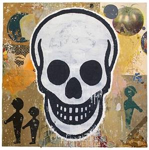 untitled (skull) by donald baechler
