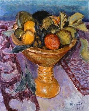 le compotier – the fruit bowl by pierre bonnard