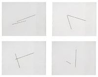 four variations of two diagonal lines by fred sandback