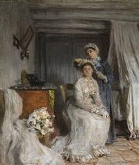 le couronnement de la mariée by léon augustin lhermitte