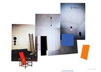 interior with monochromes by richard hamilton