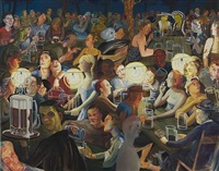 beer garden at night by nicole eisenman
