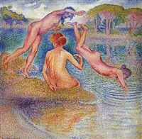 baigneuses - bathers by henri edmond cross