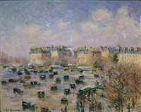paris, place de l'etoile, avenue wagram by gustave loiseau