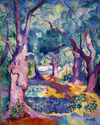 olive trees in cavalière by henri charles manguin