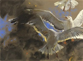 gulls of the inferno by jamie wyeth