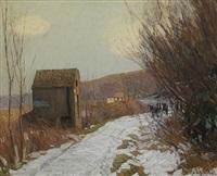 winter road by edward willis redfield