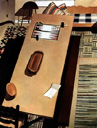 americana (the backgammon game) by charles sheeler