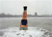 falls to the ice hole by li wei
