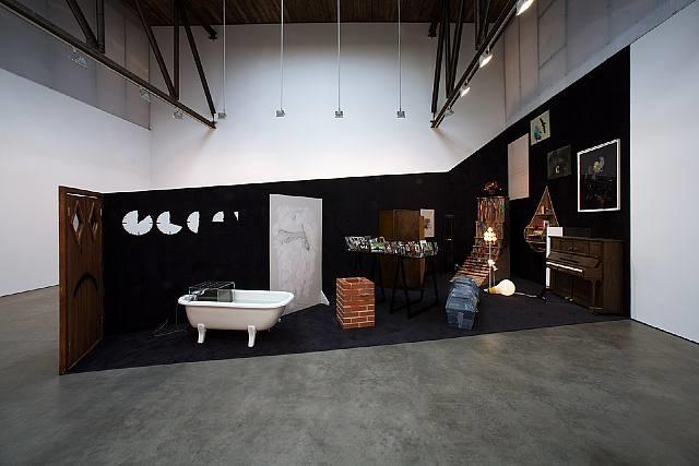 installation view, 'twilight' by friedrich kunath