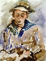 thomas corinth in sailor suit by lovis corinth