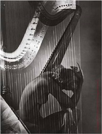 lisa with harp by horst p. horst