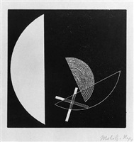 segments of circle with cross by lászló moholy-nagy